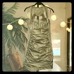 Caché Mini Dress Bronze sz 8